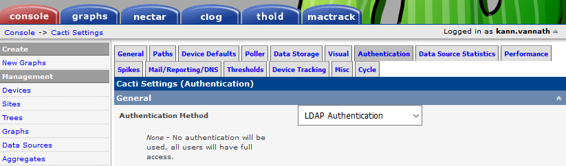 Integrate Cacti Authentication With LDAP/AD | Tech Space KH