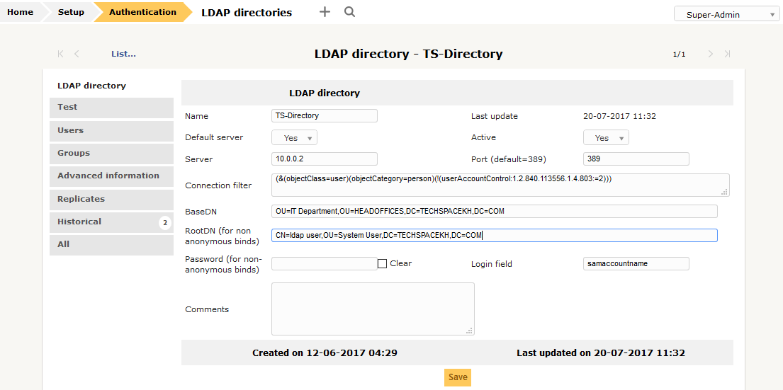 Integrate GLPI Authentication With LDAP/AD | Tech Space KH