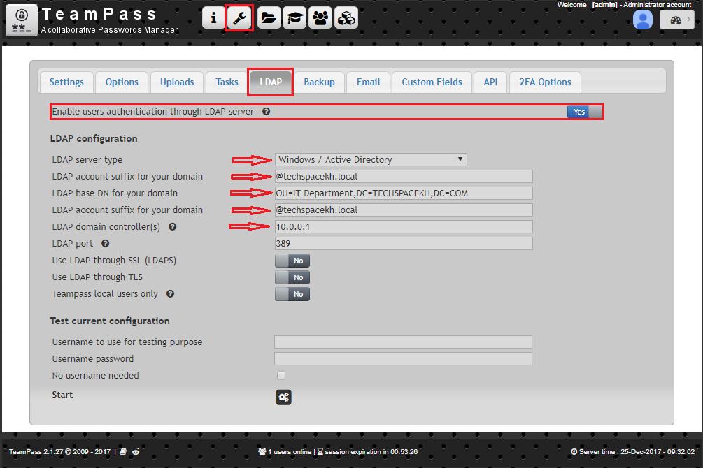 TeamPass LDAP Active Directory Authentication   Tech Space KH